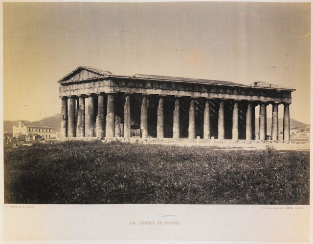 Temple of Hephaestus at Athens. - BECK, Henri - TRAVELLERS' VIEWS - Places – Monuments – People Southeastern Europe – Eastern Mediterranean – Greece – Asia Minor – Southern Italy, 15th -20th century