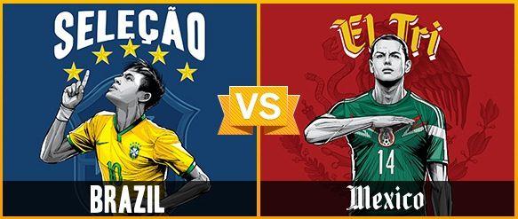 GRUPO A / #BRA vs #MEX (0 - 0) / 17.06.14 / Estadio Castelão (Fortaleza)