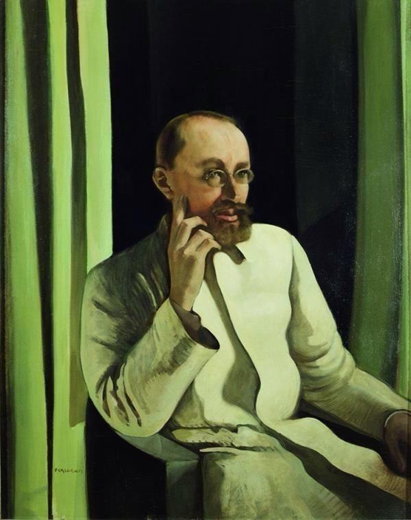 Felice Casorati「Ritratto di Antonio Veronesi」(1922)