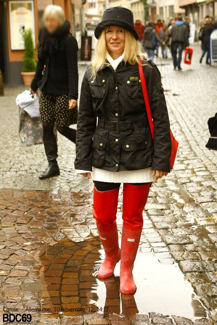 Red Hunter Rubber Thighboots