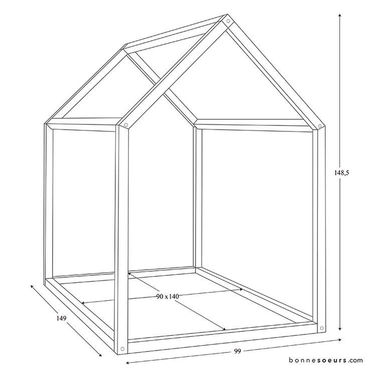 bonnesoeurs design lit maison dimensions