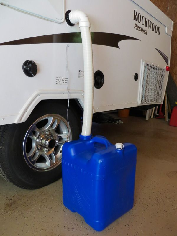 Gray water outlet for pop up camper - The DIY Girl                                                                                                                                                      More