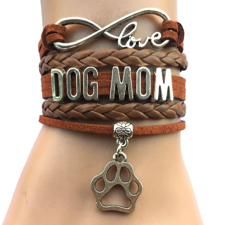 This Infinity Dog Mom Bracelet is a great way to show appreciation to your dog…