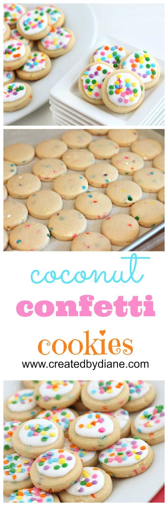 coconut confetti cookies from www.createdbydiane.com