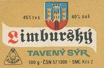 Cheese label, Czechoslovakia