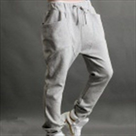 Fashion Leisure Men's Cotton Sports Pants - Grey (Size XL) $27.46