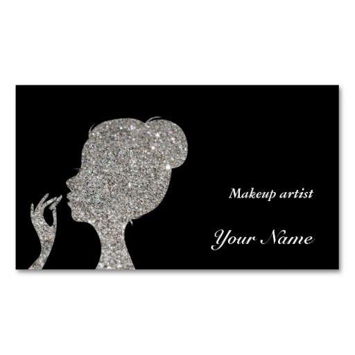 Sparkles & Glitter makeup artist Business Card Business Card