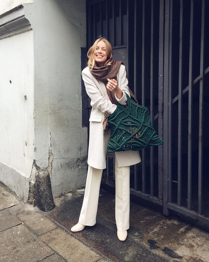 31 Perfect Looks To Copy This December #refinery29 http://www.refinery29.com/2016/12/131522/new-outfit-ideas-december-2016#slide-8 A prime example of winter whites. Consider 2016 the moment to embrace the taboo hue.Filippa K jacket and pants, Jennie-Ellen shoes, Marimekko bag....