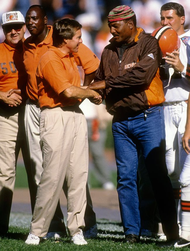 Belichick and Jim Brown, 1994