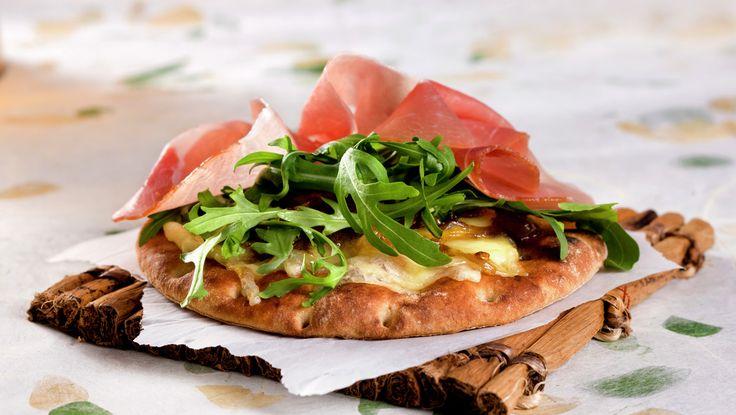 Turpizza med spekeskinke