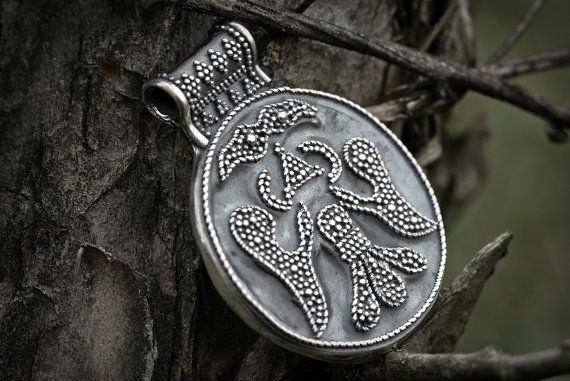 Viking double head eagle pendant by Volundr on Etsy