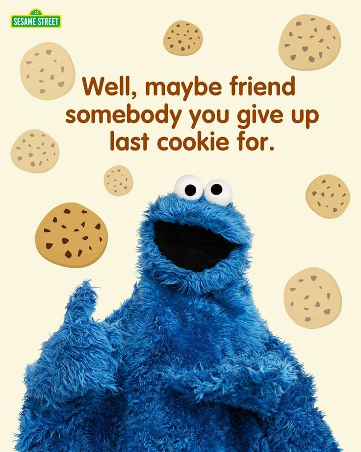 I'd Give Up All My Cookies For You Cookie Monster