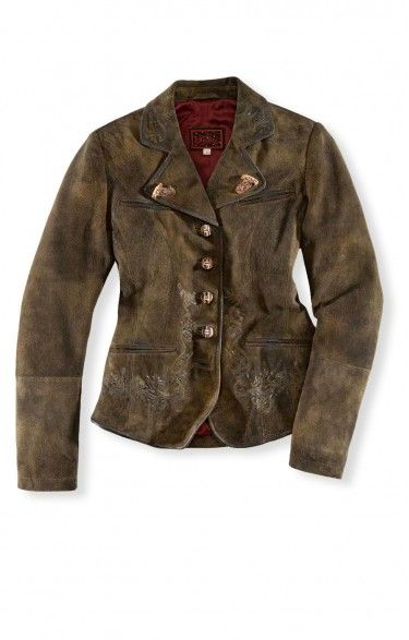 Traditional leather jacket Bria dark brown women leather jacket