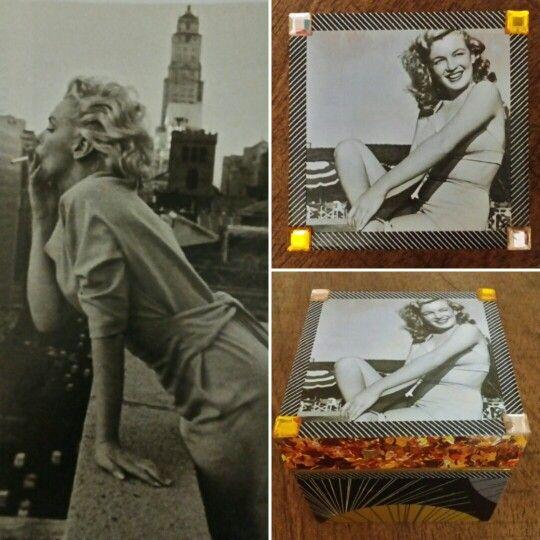 "Cajita ""Marilyn"", art decó. (GloriArte143)"
