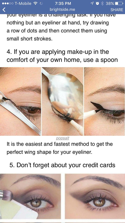 Eyeliner spoon trick