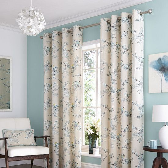 NEW Duck Egg Mila Curtain Collection | Dunelm