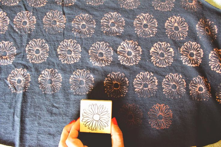 diy: bleach stamp pad | heywandererblog | Bloglovin'