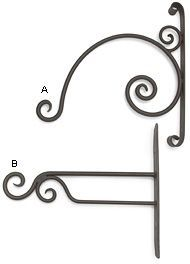 Forged Wrought-Iron Plant Hangers - Gardening