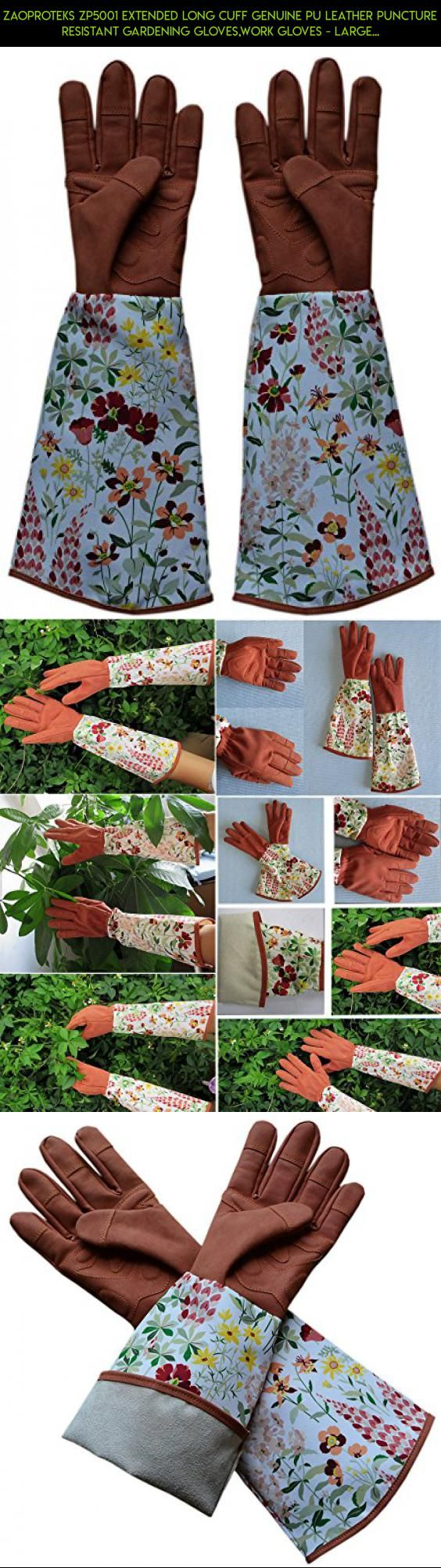 Leather work gloves made in the usa - Zaoproteks Zp5001 Extended Long Cuff Genuine Pu Leather Puncture Resistant Gardening Gloves Work Gloves