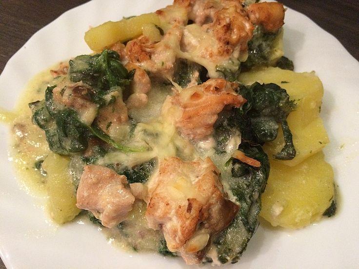 Spinat - Kartoffel - Lachs - Auflauf, ein raffiniertes Rezept aus der Kategorie Fisch. Bewertungen: 103. Durchschnitt: Ø 4,4.