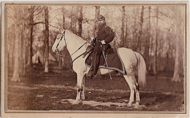 Civil War surgeon Reed Bontecou on his horse