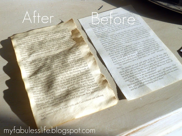 How to Age paper!  Soak in coffee (shallow pan, sink, etc.), put on back of cookie sheet, and bake 20' at 200 degrees.