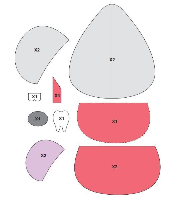 molde para el ratoncito perez en goma eva o fieltro la PAGINA WEB de la autora es: http://contuspropiasmanos.com/ratoncito-perez-un-gran-guardadientes.html.  Gracias por compartir