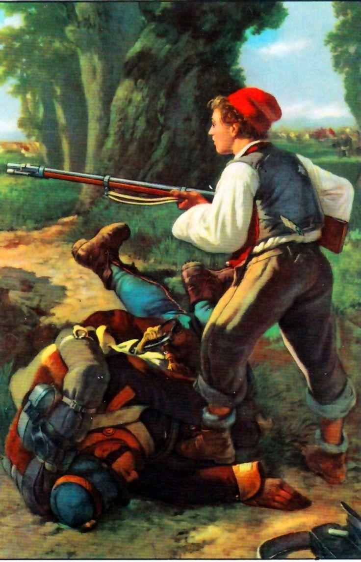 Volunteer militia in battle during the Italian War of Reunification