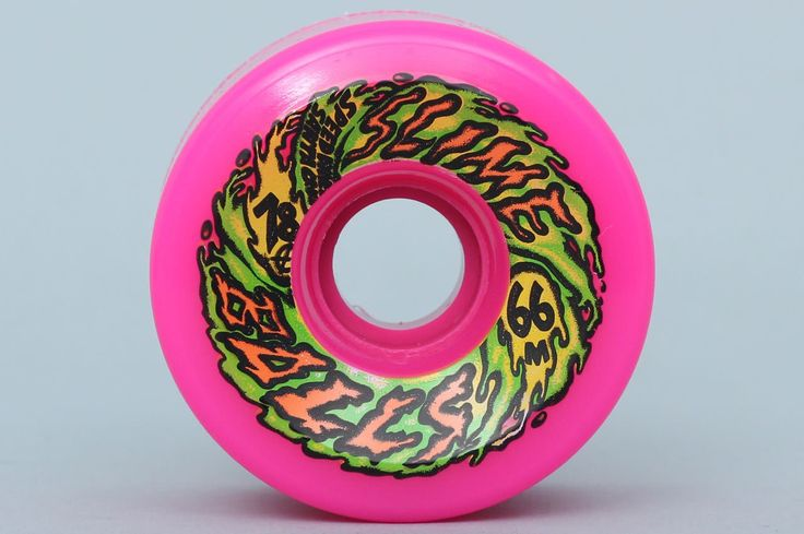 Santa Cruz 66mm 78A Slime Balls 66s Neon Pink Wheels  78a Slimeball formula is the perfect combination of speed, controlled slide and durability. Perfect for high-speed cruising and downhill slide sessions.  • 66mm • 47mm wide • 78A • Neon Pink Ure