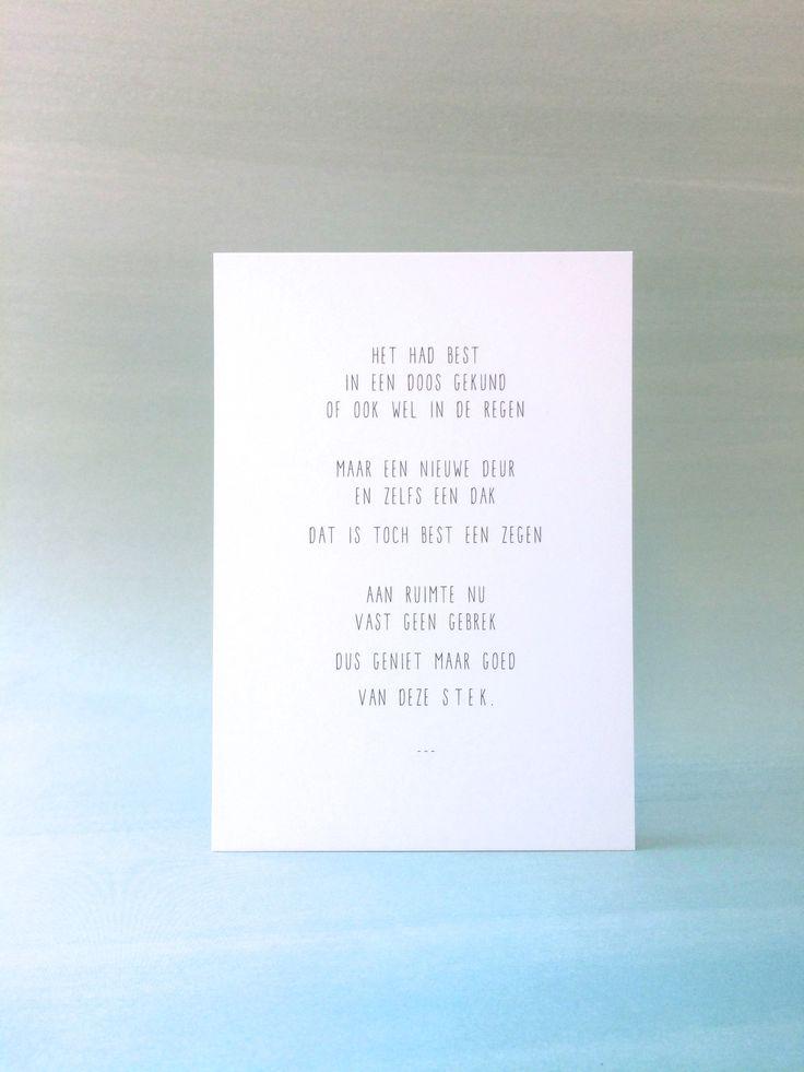 Gedicht nieuwe woning samenwonen ty15 for Nieuwe woning wensen