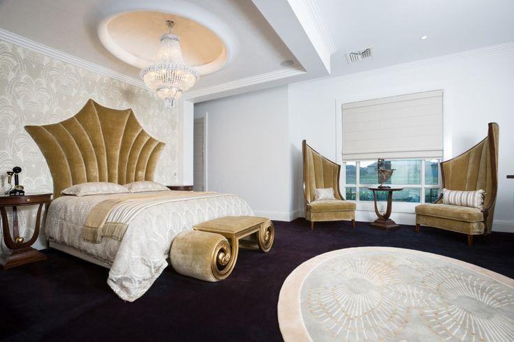 Art Deco Oval Rug