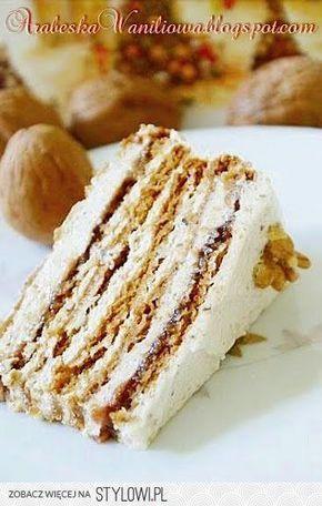 Tort rumuński Ciasto: - 250 g mąki - 120 g miodu - 120…