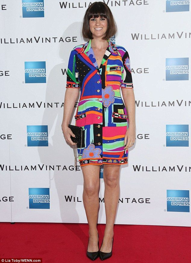 Sixties siren? Dawn O'Porter rocked a jazzy yet chic look as she hit the William Vintage's...