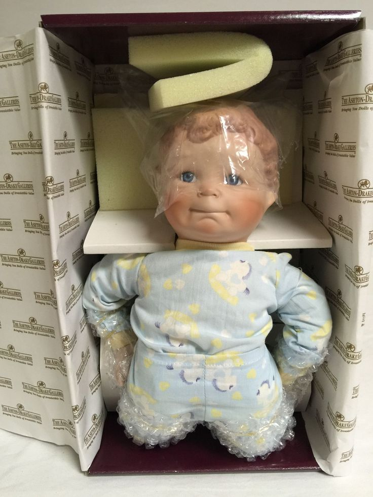 """Ashton Drake, 76343, Yolanda's Precious Playmates, Johnny, 10"""" tall. There is no paperwork or accessories in this box just his tag on his arm. This doll has been stored in the original box with all th"""