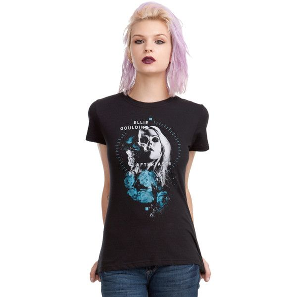 Hot Topic Ellie Goulding Aftertaste Girls T-Shirt ($18) ❤ liked on Polyvore featuring tops, t-shirts, floral tee, floral print tops, floral t shirt, floral graphic tees and floral print tee