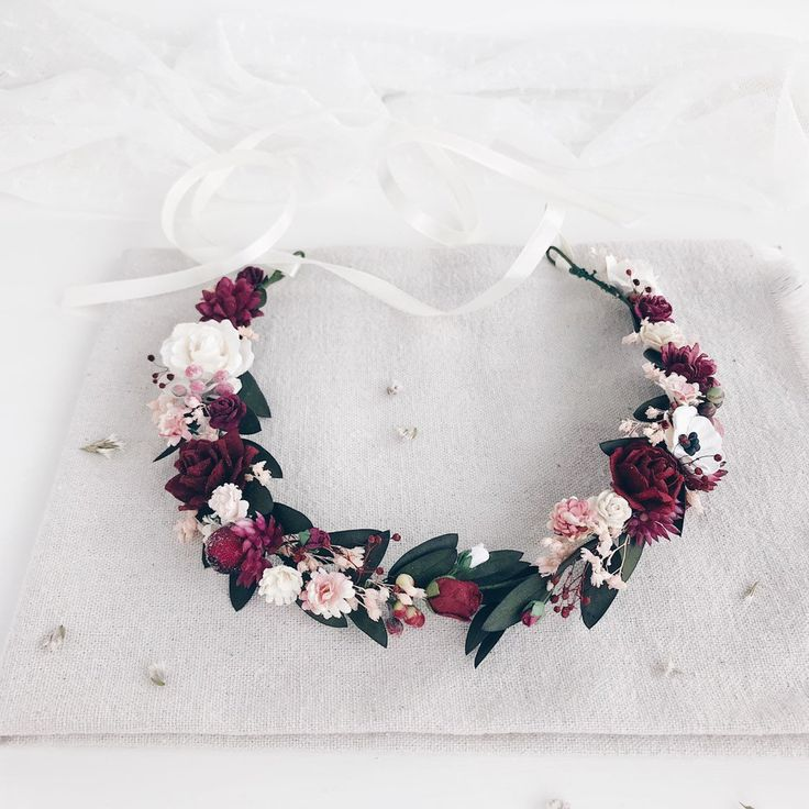 Flower crown, Burgundy Flower crown, wedding flower crown, bridal flower crown, Eucalyptus hair piece