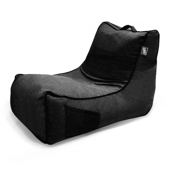 The Coastal Haven in Black is a classic lounger shape with cotton herringbone fabric, making it ideal for the indoors. From lifeliveitup.com.au