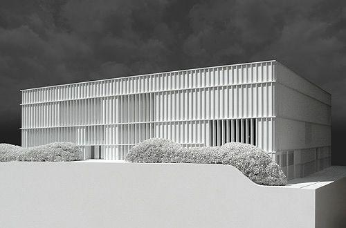 Kunsthaus Zürich modell, Maßstab: 1:50, Architekt: David Chipperfield Architects, Material: Polystyrol, MDF, Präzisions Acrylglas, Bilder: Béla Berec
