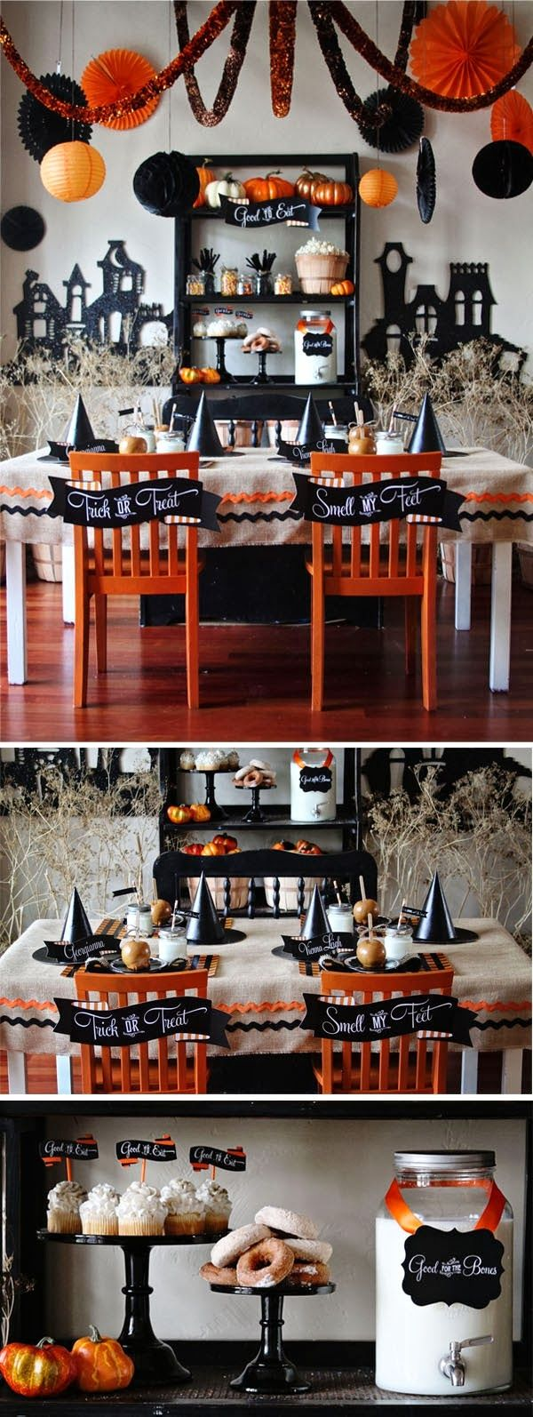 72 best Halloween Ideas images on Pinterest Halloween decorations - Halloween Table Decorations Pinterest