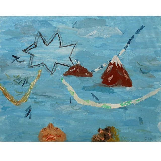 Cristina Lama, Firmamento, 2015. Óleo/tela. 114x146 cm. En @galeriacavecanem, Sevilla.