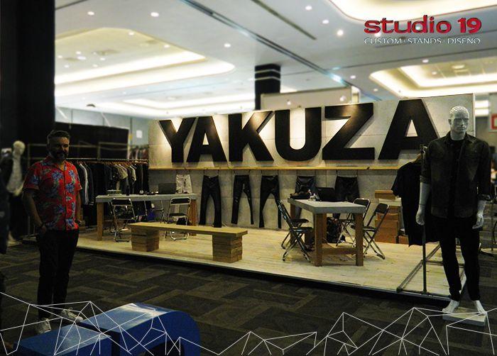 Stand tipo custum de la marca Yakuza. Montado en Intermoda - Chourrom Jun 2016