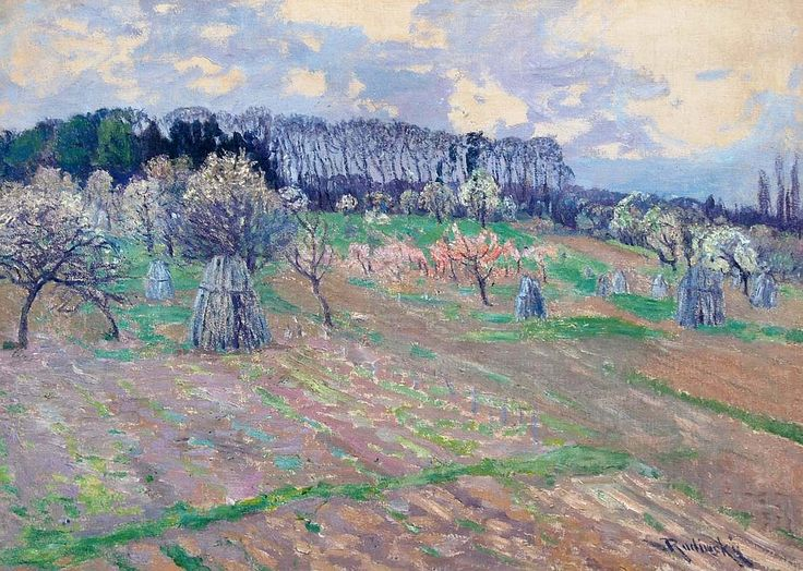 The Athenaeum - Spring in Giverny (Václav Radimský - No dates listed)