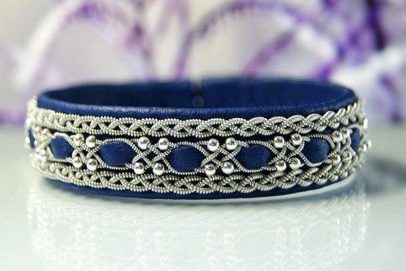 Sami Viking Lapland Nordic armband Braided leather women