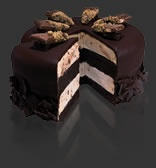 Probably our wedding cake... tiers of Cold Stone ice cream cake!! I got my wish!