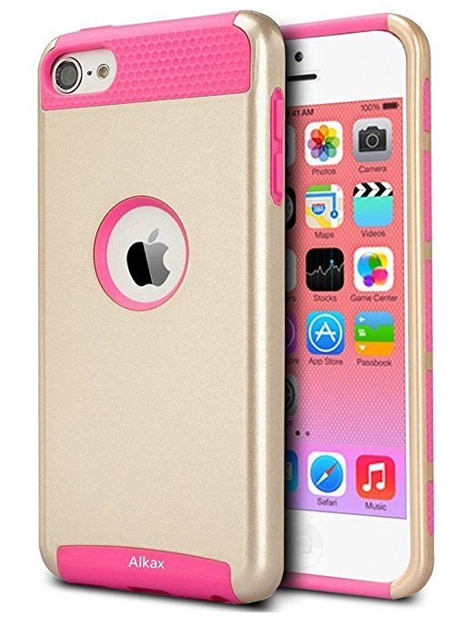 Amazon.com: iPod Touch 5 Case, iPod Touch 6 Case, Alkax [Heavy Duty] [Slim Fit] Armor Defender Style Hybrid Rugged Hard Protective Cover Bumper + Stylus Pen for Apple iPod touch 5th 6th Generation (Rose gold): Cell Phones & Accessories
