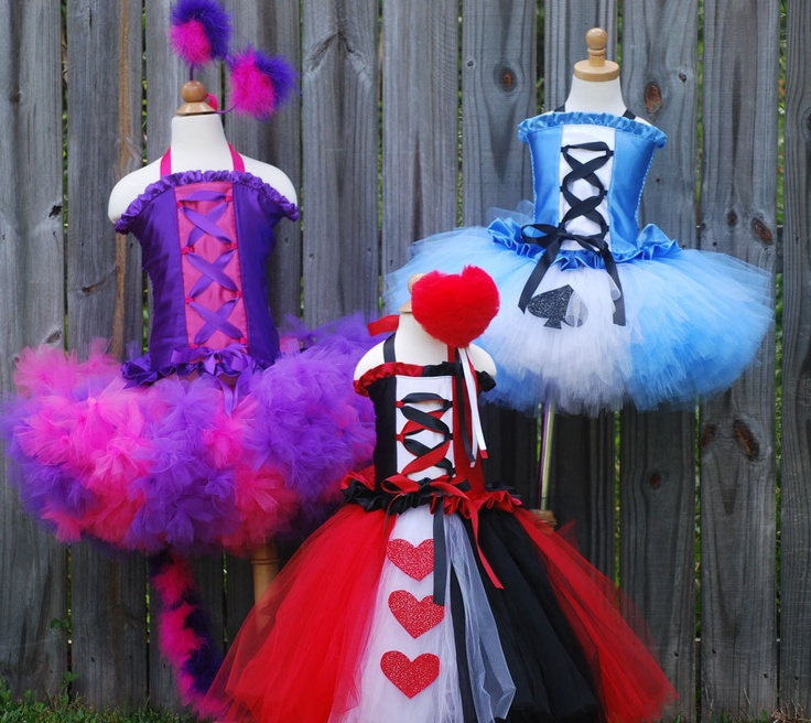 Custom Alice in Wonderland tutu dress corset set made to fit your daughter in a size 12 months through 5T. Larger sizes available. $80.00, via Etsy.