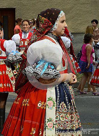 Girl In Folk Costume Editorial Image - Image: 58089695