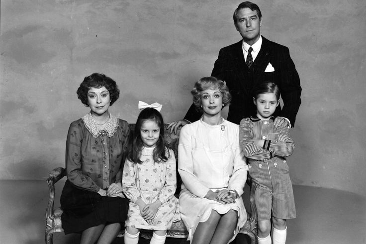 Matador, The Varnæs family, family portrait, dear memories, Danish tv series, photo b/w.