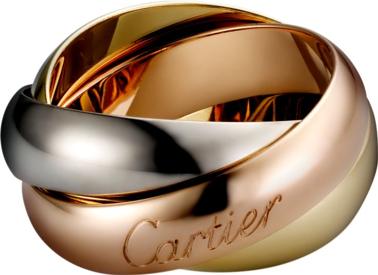 TRINITY DE CARTIER RING, LM トリニティ ドゥ カルティエ リング、LM ¥326,700 ホワイトゴールド、イエローゴールド、ピンクゴールド 品番: : B4052800 3つのリング。3つの色。神秘と調和に満ちて絡み合うピンクゴールド、イエローゴールド、ホワイトゴールド。トリニティ リングは1924年、未来を見据えたルイ・カルティエの斬新なエスプリから生まれました。ジャン・コクトーはトリニティ リングを自身の一部のように身につけて、彼の詩的な世界で光輪となるアイコンに列し愛しつづけました。3色のゴールド。3つのシンボル。ピンクは愛を、イエローは忠誠を、ホワイトが友情を象徴します。時空を越えるジュエリー、トリニティ コレクションは今日、人生を愛する人々に捧げられます。「Trinity, all about you forever」