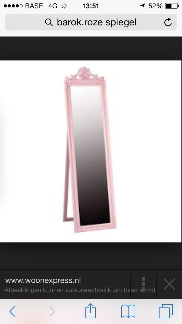 Pastel roze spiegel